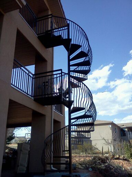 Vector welding fabrication welder in st george utah for 2 story spiral staircase